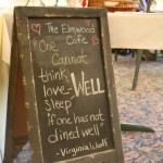 Cafe chalk board
